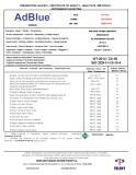Сертификаты на продукцию Adblue - 1